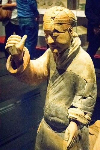 Kneeling Musician, Qin Dynasty